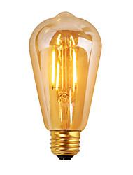 1 pièce GMY E26 3W 4 COB ≥300 lm Blanc Chaud ST19 edison Vintage Ampoules à Filament LED AC 110-130 V