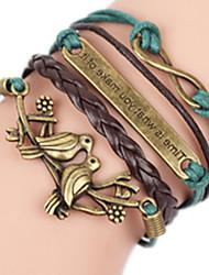 Bracelet Bracelets Rigides Alliage Autres Fait à la main Anniversaire Quotidien Bijoux Cadeau Vert,1pc