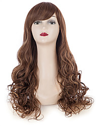 24 Women Long Curly Hair Brown Wig Black Friday Christmas Party Cosplay Costumes Synthetic Wigs