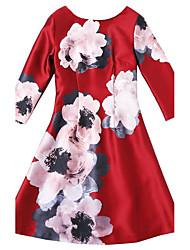 2016 hitz jacquard de la mode féminine robe manches robe élégante mince un mot
