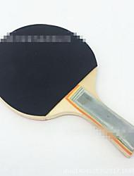 Tennis de table Raquettes Ping Pang Bois Long Manche Boutons 2 Raquette 3 Balles de Tennis de Table Intérieur-#