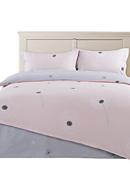 Mingjie 100% Cotton Pink Dandelion Bedding Sets 4PCS for Twin Full QueenSize from China Contian 1 Duvet Cover 1 Flatsheet 2 Pillowcases