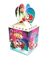 Рождественский декор Товары для Рождественской вечеринки Товары для отпуска 10Pcs Рождество Пластик Радужный