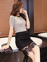 Women's Lace Sign autumn paragraph lace bag skirt skirts skirt waist skirt skirt skirt step skirt a word thick section