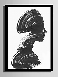 E-HOME® Framed Canvas Art Abstract A Woman Portrait Framed Canvas Print One Pcs