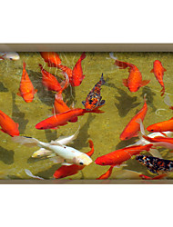 Goldfish 3D  Stickers The Floor Tile Individuality Decorative Carpet Decal