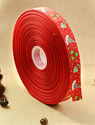 2.5 centimeters red Christmas cap ribbons