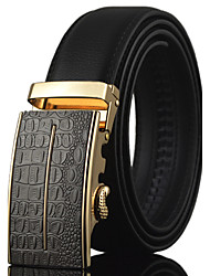 Men's High Quality Automatic Buckle Waist Belt Work/Casual Alloy/Leather All Seasons