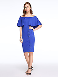 Women's  Flouncing Off Shoulder Midi Dress