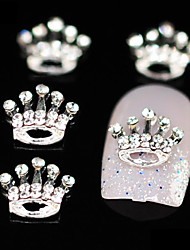 Aniversário 10pcs coroa de strass acessórios de liga de diy nail art decoração
