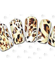 Autocolantes de Unhas 3D - Desenho Animado / Flôr / Adorável - para Dedo - de Outro - com 64PCS -15cm x 10cm x 5cm (5.91in x 3.94in x
