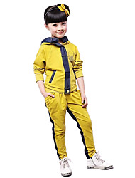 Girl's Cotton Fashion Spring/Fall Going out Casual/Daily Hoodie & Pants Two-piece Set Sport Suit