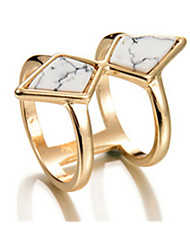 Ring Alloy Geometric Jewelry For Party 1pc