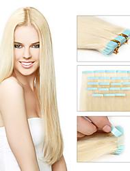 de haute qualité des extensions de cheveux de bande 20pcs / pack brazilian vierges extensions de cheveux de trame cheveux de la peau