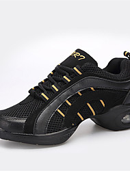 Chaussures de danse(Rouge / Or) -Non Personnalisables-Talon Bottier-Synthétique-Moderne
