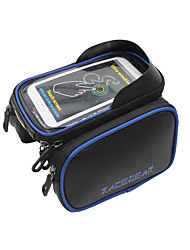 RACEGEAR@ Bike Frame Bicycle Bag Front Tube Bag MTB Road Bike Bag Double Pouches PVC Touchscreen Phone Case For 5.5/6.2 Cellphone