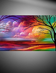 Tree Landscape Handamde Brush Hand-Painted Abstract / Landscape 100% Hang-Painted Oil PaintingModern One Panel Canvas Oil Painting For Home Decoration