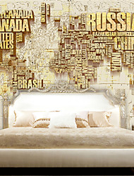 JAMMORY 3D Wallpaper For Home Contemporary Wall Covering Canvas Material English Relief MapXL XXL XXXL