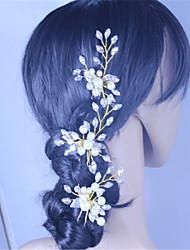 Women's Rhinestone Imitation Pearl Headpiece-Wedding Special Occasion Hair Pin 3 Pieces