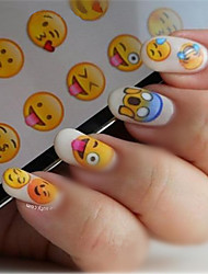 NICOLE DIARY Nail Art Water Decals Various Expression Patterns Stickers Water Transfer Nail Art Tattoo