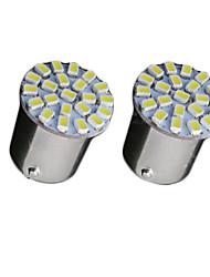2x super lumineux blanc conduit 22 3020 BA15S cms 1156 signalisation arrière de voiture de tour ampoule 12v