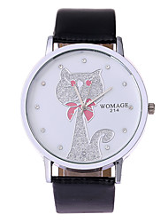 Women's lovely han edition of the popular trend set auger strap watch cat design
