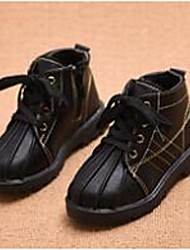 Girl's Boots Comfort Leatherette Casual Black Red