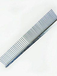 Dog Cleaning Comb Pet Grooming Supplies Portable Silver Stainless Steel