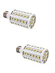 10W E26/E27 Ampoules Maïs LED T 60 SMD 5050 880 lm Blanc Chaud AC 100-240 V 2 pièces