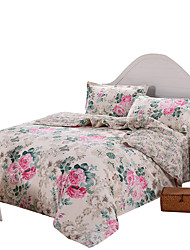 Mingjie 100% Cotton Red Flowers Bedding Sets 4PCS for Twin Full QueenSize from China Contian 1 Duvet Cover 1 Flatsheet 2 Pillowcases