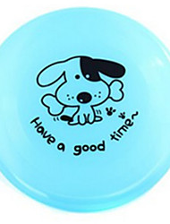 Pet Toys Flying Disc Plate Plastic Yellow Green Blue Pink