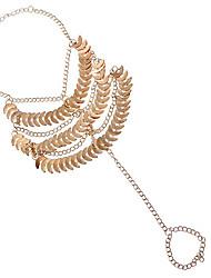 liga de ouro tornozeleira jóias 1pc das mulheres