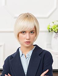 la mode mi-longueur uniques capless perruques cheveux ombre humaine droite naturelle