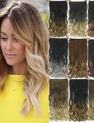 Extensions de cheveux humains Synthetic 120G 60CM Extension des cheveux