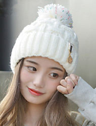 Wild Winter Fashion Iron Superscript Plus Cashmere Line Caps Warm Knit Caps Head Caps   Hat