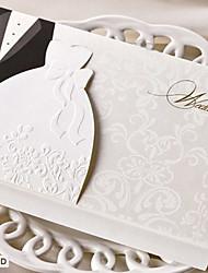 Personnalisé Pliée Invitations de mariage Cartes d'invitation-50 Pièce / Set Style des mariés Papier durci Kits