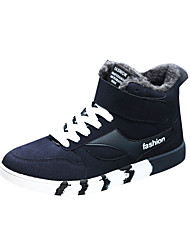 Men's Sneakers Winter Other Other Animal Skin Outdoor Low Heel Lace-up Black Blue Black/White Walking