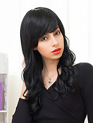 Charming Long Layered Capless Wigs Natural Wavy Human Hair