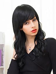 Charming Long Layered Capless Wigs Natural Wavy Human Hair