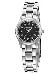 Masculino Mulheres Relógio de Moda Quartzo Impermeável Aço Inoxidável Banda Prata marca
