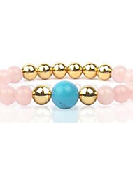 Women's Strand Bracelet Beaded Gemstone Agate Gem Cross Jewelry For Casual 1pc