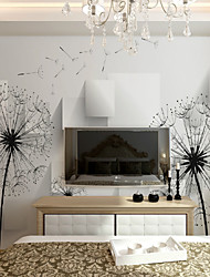JAMMORY Dandelion Wallcover Simple Modern 3D Wallpaper Bedroom TV Background Wallpaper Wallpaper Living Room Custom Made Fresco European XL XXL XXXL