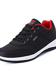 Masculino-Tênis-Conforto-Rasteiro-Preto Cinzento ecuro Azul Escuro-Couro Ecológico-Casual