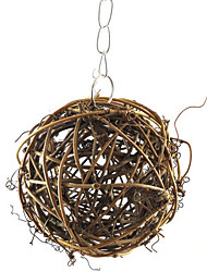 pássaro de madeira marrom 1pc brinquedos pássaro