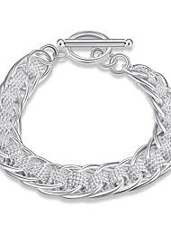 Bracelet Chaînes & Bracelets Cuivre Plaqué argent Mode Bohemia style Style Punk Personnalisé Quotidien Décontracté Bijoux Cadeau Argent,