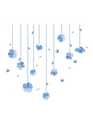 Wall Stickers Wall Decals Style Bead Curtain Flower PVC Wall Stickers