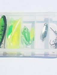 "15 pcs Isco Duro Isco Duro Cores Sortidas 10 g/3/8 Onça mm/1-5/8"" polegada,Plástico Duro Isco de Arremesso Outro Pesca Geral"