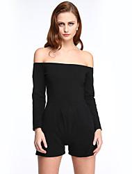 Women's Fashion Ladies Off-shoulder Playsuit