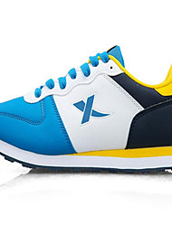 X-tep Tenisky Běžecké boty Pánské Protiskluzový Anti-Shake Prodyšné Nositelný Outdoor Výkon PVC kůže Guma Běhání Volnočasové sporty