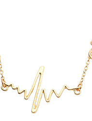 Necklace Non Stone Chain Necklaces Jewelry Daily Geometric Unique Design Alloy Women 1pc Gift Gold